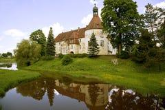 Ancient medieval castle Jaunpils Stock Images