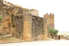 Ancient medieval castle in Oropesa,province Toledo,Spain Royalty Free Stock Photos