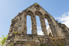 Ancient medieval church ruins in english city Royalty Free Stock Photos