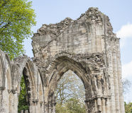 Ancient medieval church ruins in english city Stock Images