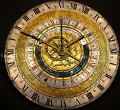 Ancient Medieval Clock Royalty Free Stock Photography