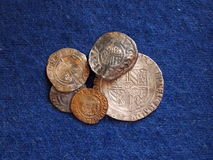 Ancient medieval coins Royalty Free Stock Image