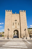 Ancient medieval gate in Toledo, Spain. Stock Photo