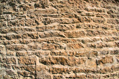 Ancient medieval limestone wall of the castle Royalty Free Stock Photos