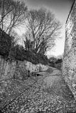 Ancient medieval road that leads from the village of Soave to th Stock Images
