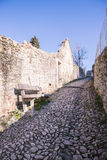 Ancient medieval road that leads from the village of Soave to th Royalty Free Stock Photos