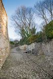 Ancient medieval road that leads from the village of Soave to th Stock Photos
