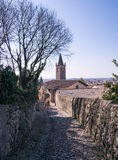Ancient medieval road that leads from the village of Soave to th Royalty Free Stock Photography