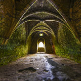 Ancient medieval room with arches Stock Photos