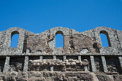 Ancient medieval ruins Stock Photo