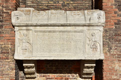 Ancient medieval sarcophagus in Venice Stock Photo