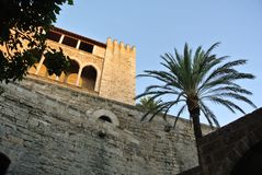 An ancient medieval Spanish castle from the inside Stock Photo