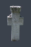 Ancient medieval stone cross Stock Photography