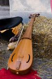 Ancient medieval stringed instrument Stock Images