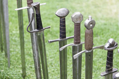 Ancient medieval swords Royalty Free Stock Photography