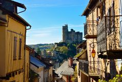 Ancient medieval town of Najac in France Royalty Free Stock Photography