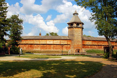 Ancient medieval wooden Cossack fortress, Baturin, Ukraine Stock Photo