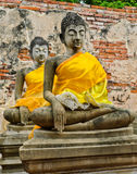 Ancient meditating buddha Royalty Free Stock Images