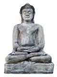 Ancient meditation Buddha Statue. At Prathat hari-pun-chai temple in Thailand Stock Photo