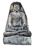 Ancient meditation Buddha Statue with wall Royalty Free Stock Photos