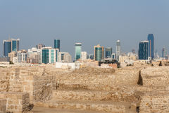 Ancient meets modern in Bahrain Stock Images