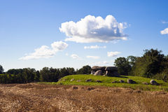 Ancient megalithic tomb. On the island Moen Royalty Free Stock Image