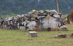 Ancient megalithic tomb. Old stone grave; traditional bury Stock Photo