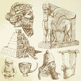 Ancient mesopotamian art Stock Image