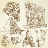 Ancient mesopotamian art Stock Image