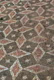 Ancient Messene, Greece. Mosaic floor in Ancient Messene in Greece Stock Photos