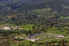 Ancient Messene and the Messene valley at Kalamat Stock Images