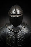 Ancient metal armor of the medieval knight Royalty Free Stock Photos