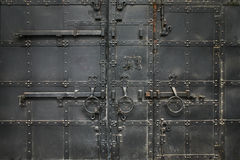 Ancient metal black gate Royalty Free Stock Image