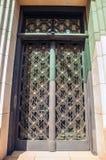 Ancient metal door close-up Stock Photography