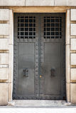 Ancient metal door close-up Royalty Free Stock Image