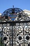 Ancient metal entrance door, Upper Town, Zagreb Stock Photo