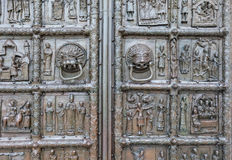 Ancient metal gate of Saint Sophia Cathedral Royalty Free Stock Photography