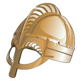 Ancient metal helmet from Sparta. Vector Royalty Free Stock Photos