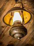 Ancient metal lamp Stock Images