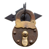 Ancient metal lock Royalty Free Stock Images