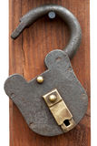 Ancient metal lock Royalty Free Stock Photography