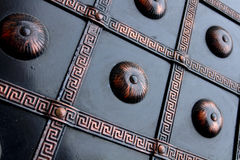 Ancient metal pattern. Brown color stock image