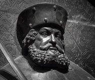 The ancient metal portrait of man with beard Stock Images