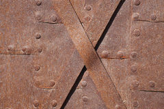 Ancient metal surface Royalty Free Stock Photos