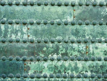 Ancient Metal Texture. On green color Royalty Free Stock Photos
