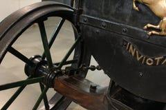 Ancient Metal tires stock photos
