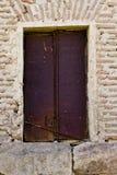 Ancient metal window Stock Photography