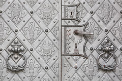 Ancient metallic door Stock Images