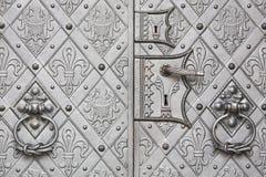 Ancient metallic door Stock Images