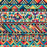 Ancient Mexican Aztec colorful fabric textile background Stock Photo